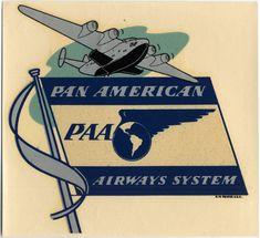 luggage label: Pan American World Airways | http://www.flysfo.com/museum/