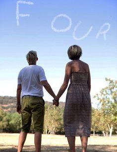 Ellen and Portia's Anniversary Skywriting Through the Years ~ Four