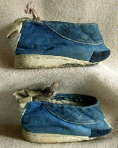 Pair of Antique Chinese Lotus Shoes for peasant