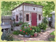 such a cute shed