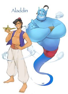 Aladdin with Robin Williams as the Genie. RIP Robin you are sorely missed.
