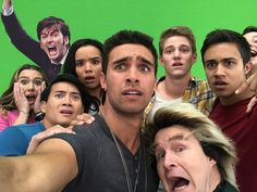 Somehow he managed to appear in this image with the Cast of Power Rangers Ninja Steel Power Rangers Memes, Power Rangers Cast, Power Rangers Fan Art, Power Rangers Wild Force, Power Rangers Ninja Steel, Power Rangers Samurai, Power Rangers Dino, Blue Power Ranger Costume, Green Power Ranger