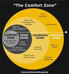 This is what the comfort zone looks like. Analyze it, study it and learn how to get out of your comfort zone. There is no growth in comfort but stepping out of that comfort zone. Life Skills, Life Lessons, Lack Of Self Confidence, Confidence Building, Emotional Intelligence, Self Development, Personal Development Skills, Self Improvement, Self Help