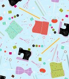 Novelty Cotton Fabric-Sewing Bits & Bobs, , hi-res