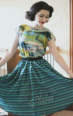 f262b4dc35 Retrolicious by Folter Jade Dream Dress