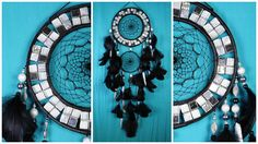 all products in my profile made personally, all the goods are in stock - items can sent in the order day  Black Dreamcatcher silver mosaic Dream Catcher Large Dreamcatcher New Dream сatcher gift idea dreamcatcher boho dreamcatcher gift Christmas   This amulet like Dreamcatcher - is not just a decoration of the interior. It is a powerful amulet, which is endowed with many properties:  - Dreamcatcher protects and ensures a healthy sleep to the owner;  Dreams -Lovets helps in practice lucid…