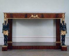 Egyptian console table. Lucca, 1st half of 19th century. 101 × 161 cm. Florence, Villa Poggio Imperiale.