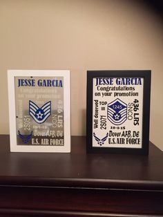 Air Force promotion gifts. Floating glass or canvas background