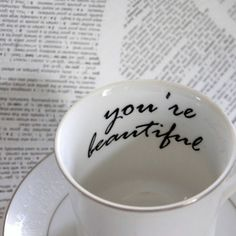 Holds coffee, tea and inspiration