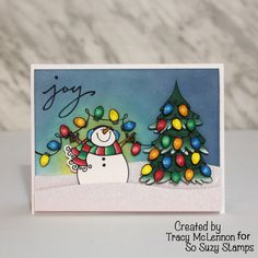 So Suzy Stamps Chameleon Pens #card #cardmaking #papercraft #papercrafting #christmas #christmascard