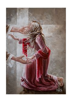 You have been saved by Grace through faith. It is THE Gift of your Abba Father. Jesus Art, God Jesus, Braut Christi, Jesus E Maria, Jesus Painting, Bride Of Christ, Prophetic Art, Biblical Art, Daughters Of The King