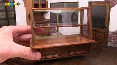 DIY Dollhouse items - Miniature Wooden showcase ミニチュア木製ショーケース作り