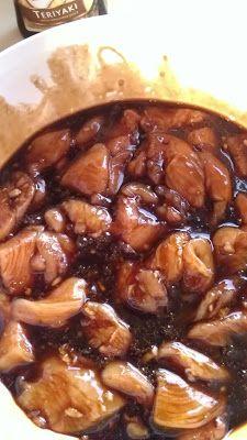 Crockpot Teriyaki Chicken:   3 Chicken breasts, diced 1 cup chicken broth ½ cup teriyaki sauce ⅓ cup brown sugar 3 garlic cloves, minced 4 ½ teaspoons cornstarch