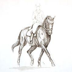 MZ - horse art: Dressage I