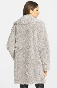 Free shipping and returns on kensie 'Teddy Bear' Notch Collar Faux Fur Coat (Online Only) at Nordstrom.com. An oversized notch collar tops a versatile three-quarter coat that wraps you in soft and plush faux fur that's as huggable as you know what.