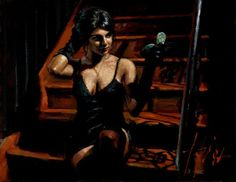 Fabian Perez: Saba With Mirror: Limited Edition Giclee on Canvas from Fabian Perez. Hand signed, enhanced and numbered limited edition giclees on canvas! Fabian Perez, Romain Gary, Local Art Galleries, Gothic Pictures, Impressionist Paintings, Paintings For Sale, Female Art, My Eyes, Black Women