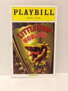 Little Shop of Horrors Playbill Hunter Foster Kerry Butler Rob Bartlett Oct 2003