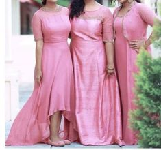Bridesmaid Saree, Simple Bridesmaid Dresses, Wedding Dresses For Girls, Bridesmaids, Latest Gown Design, Gown Party Wear, Fancy Dress Design, Frocks And Gowns, Frock Patterns