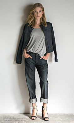 5 Impossibly Stylish Ways to Wear a Basic Jean Jacket: Jean Jacket With Boyfriend Jeans