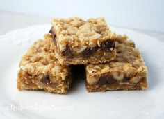 Chocolate Chip Caramel Oatmeal Bars.  This recipes adds pecans. I've never had them with nuts but probably would be good  These are the best, can't-stop-eating-them bar cookie ever!!!  Just like Shiela's Dream Bar at Potbelly's.  My favorite hands-down!!
