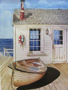 Gone Fishin | Watercolour 13 1/2 x 10 1/2 on Arches paper | Karen Park | Flickr