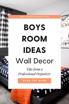 Looking for boys room ideas? Well I am sharing how we refreshed my son's room to add wall decor that is easy to change. Kids Bedroom Organization, Small Space Organization, Playroom Organization, Organizing, Boy Room, Kids Room, Small Playroom, Kid Closet, Inspiration For Kids