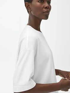 Oversized T-Shirt - White - Tops - ARKET SE H&m Group, Everyday Look, White Tops, Chef Jackets, Dress Up, Mens Tops, T Shirt, Gifts, Fashion