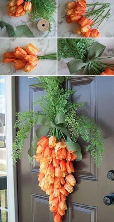 Dress Up Your Front Door Using This Spring Carrot Wreath