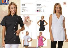 Casacas de mujer Modelos MICHIKO y JAIDEN 65%pol-35%alg. 130grs. Tallas XS a 2XL  http://www.rolanuniformes.es/estetica-y-estilistas/rolan-beauty-and-wellness/