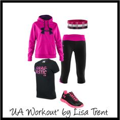 """UA workout"" by lisa-trent on Polyvore"