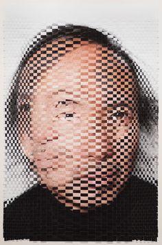 Woven Portrait by David Samuel Stern - http://www.laregalerie.fr/des-portraits-tisses/