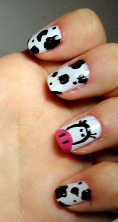Cow nails...cute!