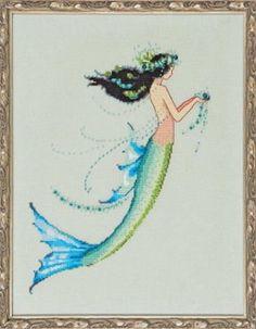 Mirabilia Designs Mermaid Azure NC190 Nora Corbett Cross Stitch Chart