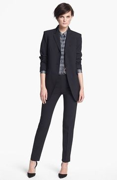 Theyskens' Theory 'Melto Farchy' Blazer, 'Iareal' Silk Blouse, 'Perfit Farchy' Pants, and Jimmy Choo 'Abel' Pump    Nordstrom