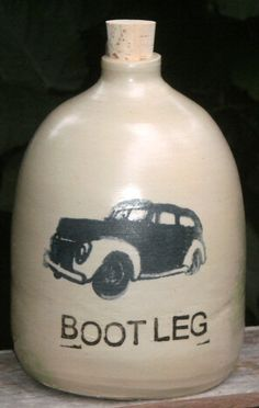 bootleggers car moonshine jug by MoonshineJug on Etsy, $32.00