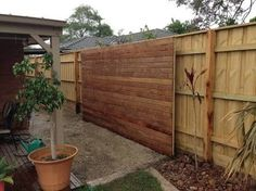 paling fence landscaping - Google Search