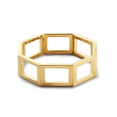 MEHEM silver square ring MH141-JR201-701 #mehem #ring #silver #square #goldplated #em #emgrp