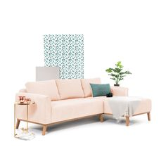 Coltar Fix Milton Light Pink Right Pastel, Love Seat, House Design, Couch, Pink, Inspiration, Furniture, Home Decor, Biblical Inspiration