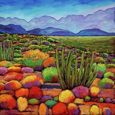 Landscape Painting - Organ Pipe by Johnathan Harris