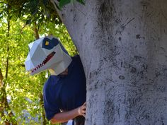 Dinosaur Costume Patterns Make Your Own Halloween Masks: Paper Dinosaur, Make A Dinosaur, Dinosaur Mask, Spinosaurus, Halloween Masks, Halloween Diy, Diy Dinosaur Costume, Paper Mask, Costume Patterns