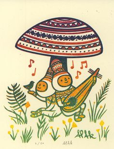 """This is pretty cute!  """"I'll Meet You There"""" Gocco print by Apak."""