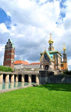Chapelle russe orthodoxe Sainte Marie-Madeleine, Mathildenhöhe – DARMSTADT, Allemagne | TheNextStop