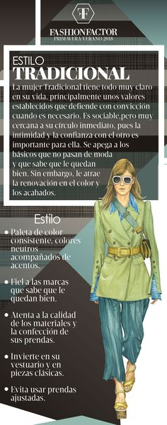 La mujer Tradicional es de estilo conservador y familiar, se apega a los clásic. The Traditional woman is conservative and family style, it sticks to the classics. Learn how to wear this style in Fa Classic Style Women, Basic Style, My Style, Casual Outfits, Fashion Outfits, Womens Fashion, Fashion Hacks, Soft Classic Kibbe, Frases