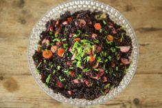 Forbidden Rice Salad with Pickled Vegetables  Want to try this.
