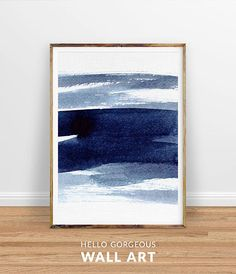 Navy Blue Wall Art set of 2 abstract watercolor prints indigo blue wall art navy