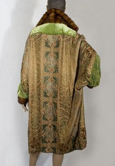 Beaded metallic brocade evening coat, c.1925, from the Vintage Textile archives.