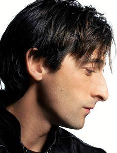 adrien brody.  elegant profile