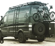 sportsmobiletexas Sprinter van build with Aluminess gear ready for adventure Check their page for interior pics Auto Camping, Motorcycle Camping, Van Camping, Camping Gear, Mercedes Sprinter Camper, Sprinter Rv, Sprinter Van Conversion, Camper Van Conversion Diy, Camper Life