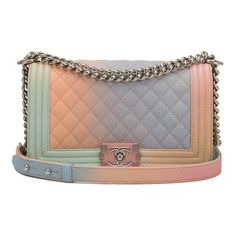 37eaddc59c4d Get one of the hottest styles of the season! The Chanel Boy Pink Rainbow  Printed Caviar Medium Multicolor Leather Shoulder Bag is a top 10 member  favorite ...