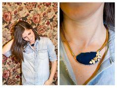 #Poètes #bisutería #Barcelona #collar #necklace #agate #ágata #handmade #handcrafted #tengotreintaypico #azul